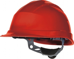 Ochranná priemyselná prilba QUARTZ 3 UP plastová náhlavná vložka račňa červená