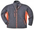 Mikina dvojfarebná Texo Heavy fleece 400 šedo / oranžová veľkosť XL