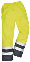 Nohavice Traffic Hi-Vis nepremokavé vysoko viditeľná žlto/modrá veľkosť L