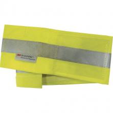 Pásik BRASSJA reflexný na ruku 50 x 9 cm upínanie na suchý zips svietivo žltý