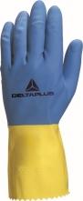 Rukavice DELTA DUOCOLOR 330 latexové dĺžka 300 mm modro/žlté