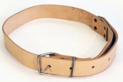 Silný kožený opasok z hladenice šírka 4 cm dĺžka 125 cm svetlý