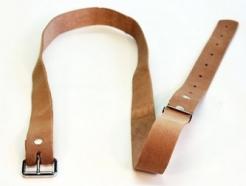 Silný kožený opasok z hladenice šírka 3 cm dĺžka 120 cm svetlý