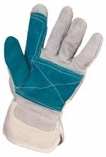 Rukavice FALCO hovädzia štiepenka zosilnená v dlani a na ukazováku jednoduchá manžeta veľkosť 10