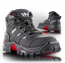 Pracovná členková obuv Prabos EMIL NYXX O1 FO SRC čierna veľkosť 45