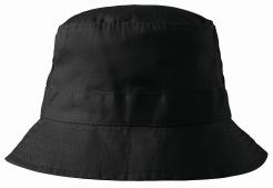 Klobúčik MALFINI Classic bavlna brúsený keper obšité vetracie otvory začistené švy zosilnená obruba čierny