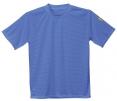 Antistatické pracovné tričko PW ESD BA/uhlík guľatý priekrčník krátky rukáv štítok s normou svetlo modré