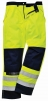 Nohavice BIZFLAME MULTI do pása antistatické elektroodolné nehorľavé výstražné svietivo žlté/tmavomodré veľkosť L