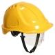 Ochranná priemyselná prilba Endurance Plus Visor ABS očný štít podbradný pásik račňa žltá