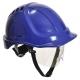 Ochranná priemyselná prilba Endurance Plus Visor ABS očný štít podbradný pásik račňa modrá