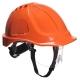 Ochranná priemyselná prilba Endurance Plus Visor ABS očný štít podbradný pásik račňa oranžová