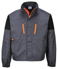 Blúza PW TEXO SPORT Tagus montérková PES/BA krytý zips šikmé vrecká pri páse golier stojačik stiahnuté manžety sivá