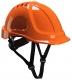 Ochranná priemyselná prilba Endurance ABS podbradný pásik račna vysokoviditelná oranžová