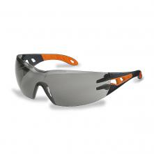 Okuliare UVEX PHEOS čierno / oranžový rám SV Excellence nezahmlievajúce nepoškrabateľné sivé