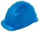 Ochranná prilba Rockman C6 HDPE zosilnený vrchlík 12 ventilačných otvorov látkový kríž pretiahnutá v zátylku modrá