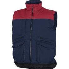 Vesta SIERRA 2 NEW s vreckami pri páse a na prsiach zateplená tmavomodrá/červená