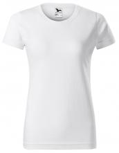 Tričko Basic dámske okrúhly priekrčník bavlna 160g krátky rukáv biele
