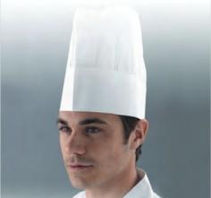 Čiapka kuchárska HRÍB papierová jednorazová biela