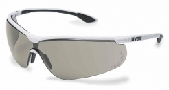 Okuliare UVEX Nový SPORTSTYLE Supravision Extreme bielo/čierny rámček nezahmlievajúce nepoškrabateľné sivé