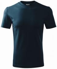 Tričko Classic 160 bavlna okrúhly priekrčník trup bez švov tmavomodré