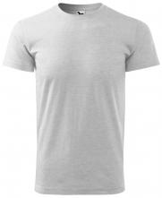 Tričko Malfini Basic 160 bavlnené s viskózou bezšvový strih trupu okrúhly priekrčník silikónová úprava svetlosivý melír