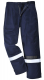 Ochranné nohavice BIZFLAME PLUS do pása antistatické nehorľavé odolné elektrickom oblúku reflexné pruhy tmavo modré