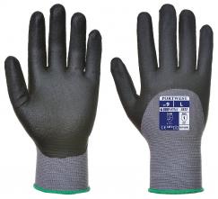 Rukavice DermiFlex Ultra nylonový úplet so Spandexom povrstvený PU a nitrilom sivé