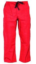 Montérkové nohavice KLASIK do pása na šnúrku bavlna červené veľkost 52