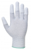 Rukavice PW PU Fingertip ESD pylón /uhlík/PU bezšvíkové antistatické máčané špičky prstov sivé