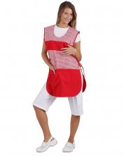 Zástera JARMILA dámska klokanka BA šnúrky na boku červená/červená kocka
