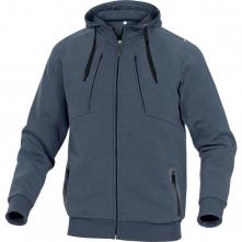 Mikina DELTA ANZIO klokanka melton PES/BA kapucňa zips vrecká na páse tmavomodrá