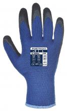 Rukavice Thermal Grip úplet PES potiahnutý latexom zateplené modro/čierne