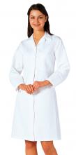 Plášť potravinársky dámsky FORTIS PLUS PES/BA vnútorné vrecko kryté zapínanie biely
