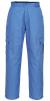 Antistatické pracovné nohavice do pása ESD pohodlné nosenie 6 vreciek pružný pás svetlomodré