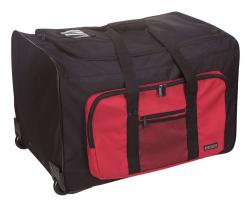 Taška PW MULTI-POCKET TROLLEY 65 x 45 x 33 cm 96 litrov PES transportné kolieska výsuvná rúčka čierno/červená