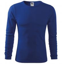 Tričko Fit-T LS bavlna 160g dlhý rukáv pánske stredno modrá