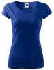 Tričko Pure 150 bavlnené dámske krátky rukáv okrúhly priekrčník vydriečené stredno modre