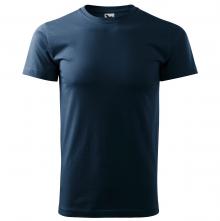 Tričko Basic 160 bavlnené okrúhly výstrih silikónová úprava tmavomodré