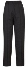 Nohavice PW FANCY LADY dámske do pása PES/BA vypasované čiastočne elastický pás ozdobný stredový šev čierne