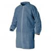 Plášť SAM materiál netkaný PP zapínanie suchý zips bez vreciek stojačik modrý