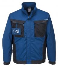 Montérková blúza PW WX3 PES/BA 280g krytý zips vrecká na prsiach a pri páse na zips modro/čierna