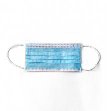 Rúšky CXS MEDIC zdravotnícka vrstvená jednorazová guľatá textilné guma za uši 10 ks modrá