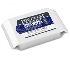 Obrúsky PW Surface Sanitiser baktericídne fungicídne virucidne na povrchy balíček 100 ks modrý