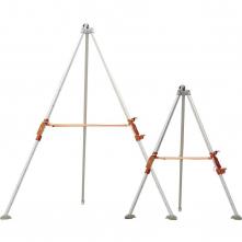Tripod DELTA TRA22 hliníkový teleskopické nohy 1,2 - 1,97 m kladka na upevnenie navijaka a elevátora strieborný