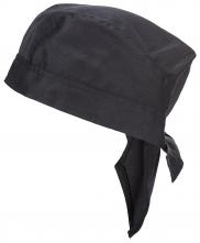 Čiapky PW Chefs Bandana kuchárska PES/BA tvar zaviazaného šatke 2 cípmi na sťahovanie čierna