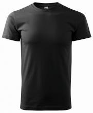 Tričko Basic 160 bavlnené bezšvový strih trupu guľatý priekrčník silikónová úprava čierna
