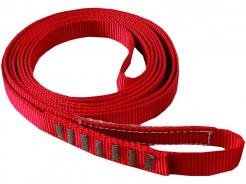 Slučka CXS AZ 900 kotevné viazací polyamidový popruh so šírkou 20 mm zošitý do kruhu dĺžka 1,2 m červená