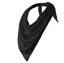 Šatka Relax 100% PES Interlock obšité okraje trojcípa 65 x 65 x 92 cm čierny