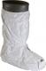 Návleky na obuv CHEMSPLASH vysoké jednorazové antistatické elastické členky a horný okraj PVC podrážka biele