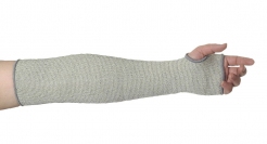 Rukávnik PW CUTY materiál úplet HPPE protiřezný stupeň D tepelne odolný dĺžka 45 cm sivý